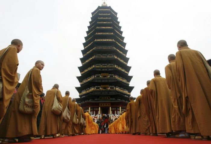 China open world tallest pagoda at Tianning Temple
