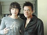 Korean pop stars Rain and JYP