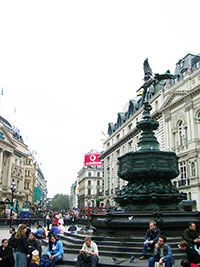 Shaftesbury Memorial Fountain at Piccadilly Circus