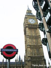 Big Ben clock tower, London, UK
