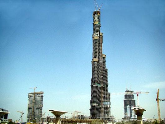 Burj Dubai under construction