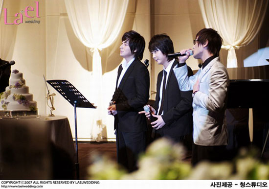 Lee Ji-hoon, Shin Hye-sung and Kangta at Park Kyung-rim wedding