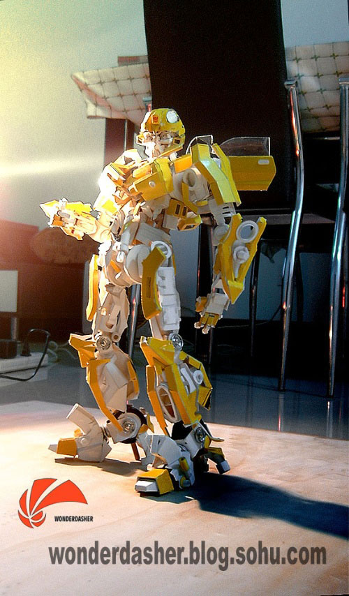 Paper made Transformers Bumblebee model