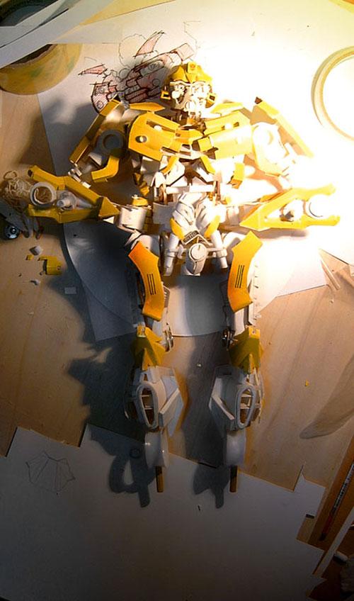 Making of paper Bumblebee model