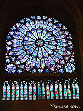 Rose Window, Notre Dame Cathedral, Paris