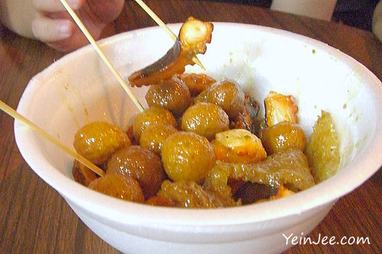 Curry fish balls and Hong Kong street food