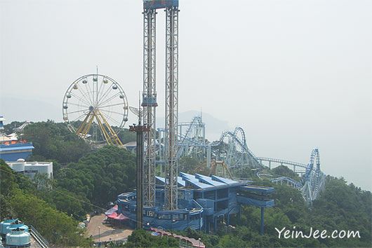 Hong Kong Ocean Park coaster ride