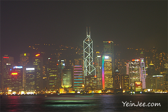 Hong Kong skyline and A Symphony of Lights