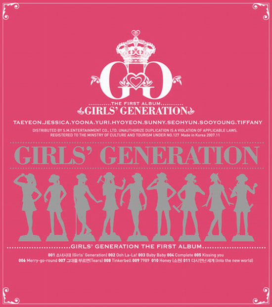 Korean pop group Girls Generation debut album