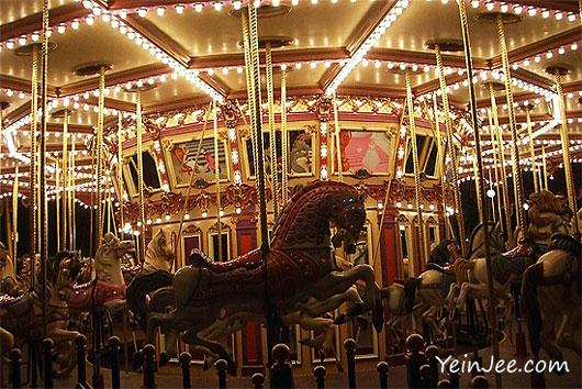Hong Kong Disneyland merry-go-round