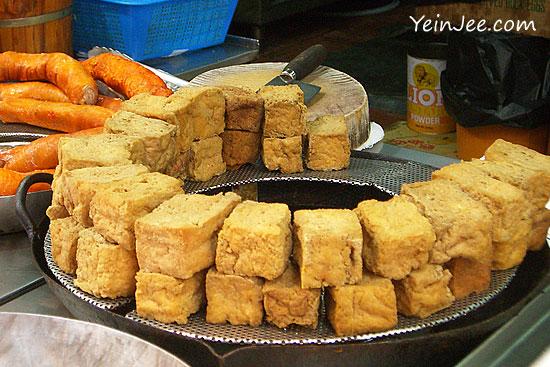Stinky tofu in Mongkok, Hong Kong