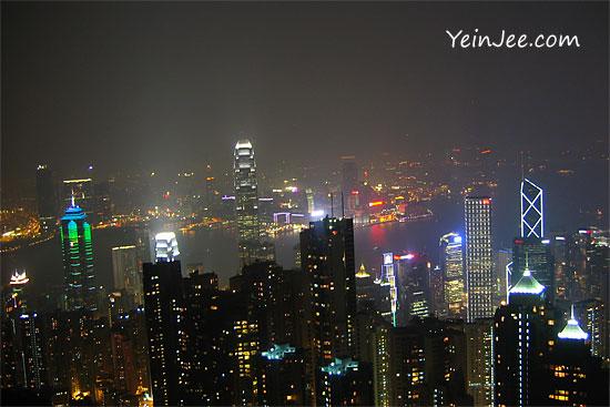 Victoria Peak Hong Kong night view