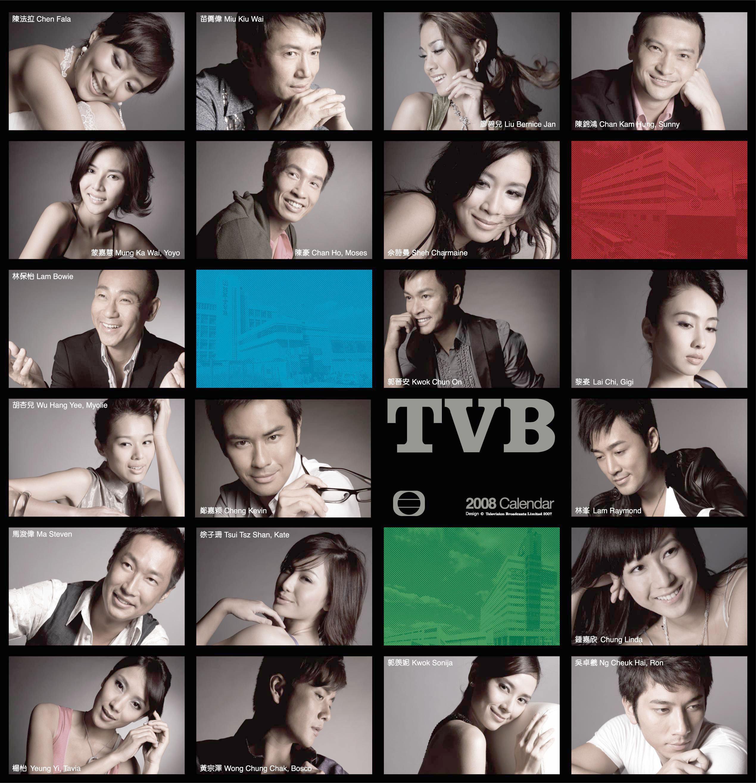 Hong Kong TVB calendar 2008 cover image