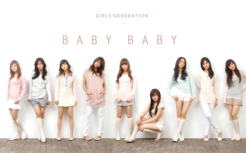 SNSD Baby Baby album concept