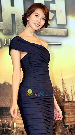 Taiwanese supermodel Lin Zhi Ling at Red Cliff press conference in Seoul, Korea
