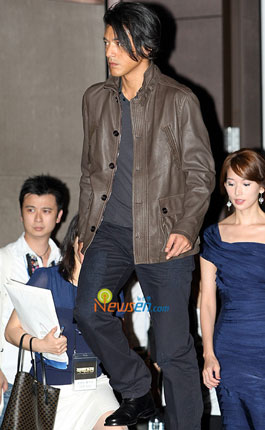 Japanese actor Takeshi Kaneshiro at Red Cliff press conference in Seoul, Korea
