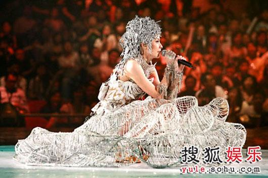 Hong Kong pop star Kelly Chen in concert