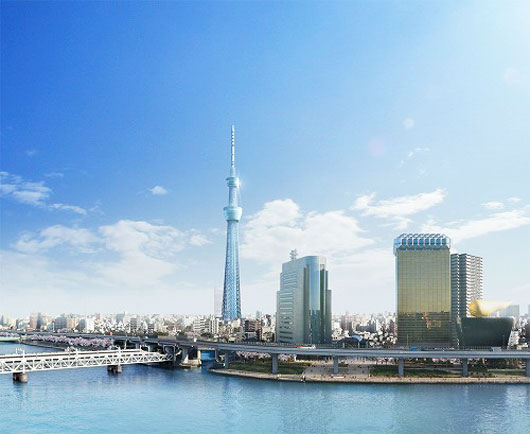 Artist impression of proposed New Tokyo Tower, the Tokyo Sky Tree in Japan