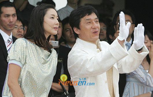 Jackie Chan and Choi Ji-woo at Hallyuwood start festival