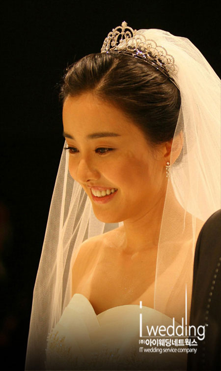 Korean actress Park Eun-hye wedding day