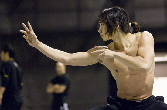 Korean pop star Rain training for movie Ninja Assassin
