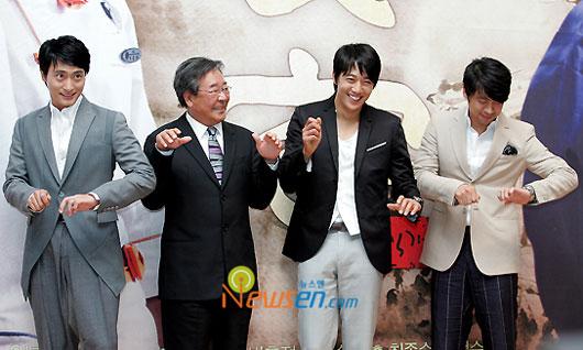 Sikgaek drama cast at press conference