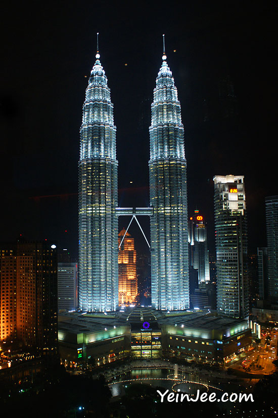 Petronas twin towers as seen from sky bar at traders hotel kuala