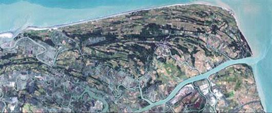 Satellite image of Myanmar before Cylone Nargis