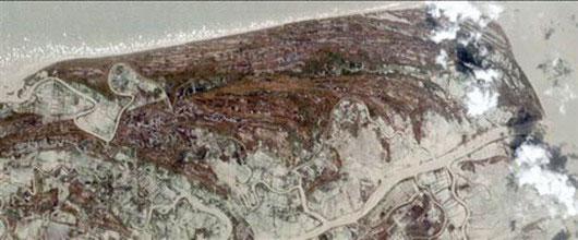 Satellite image of Myanmar after Cylone Nargis
