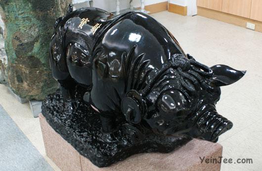 A jade-pig in a jade museum in Hualian, Taiwan