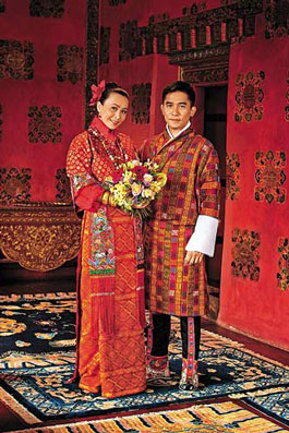 Tony Leung and Carina Lau wedding photos in Bhutan