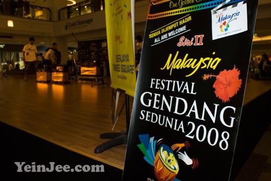 World Drums Festival 2008 at Berjaya Times Square, Kuala Lumpur, Malaysia