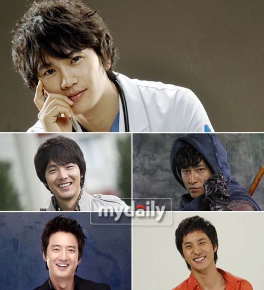 Korean actors in popular Korean dramas in 2008