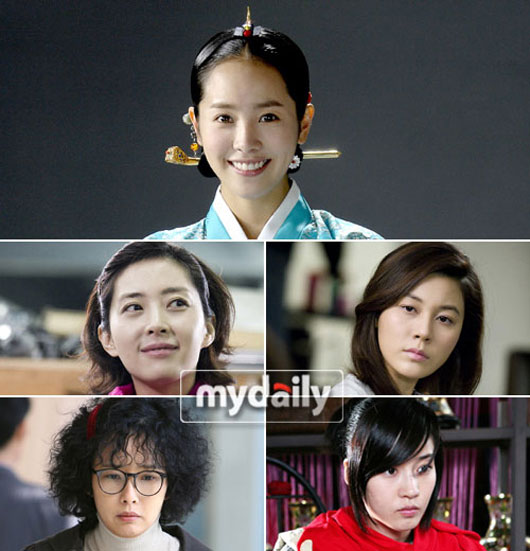 Korean actresses in popular Korean dramas in 2008