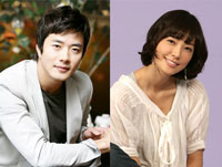 Korean celebrity couple Kwon Sang-woo and Son Tae-young