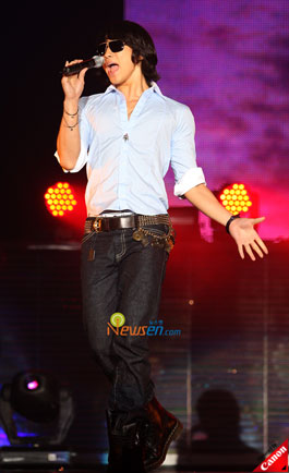 Korean pop star Rain at Summer Vacation fans meet in Seoul