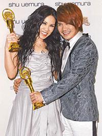 Tanya Chua and Gary Cau at Golden Melody Awards 2008