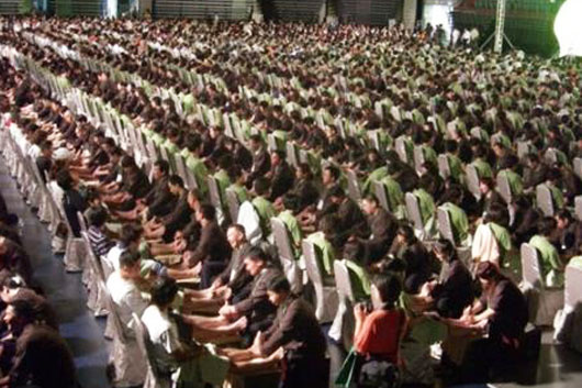 World record for most people receiving foot massage (reflexology) simultaneously in Taiwan