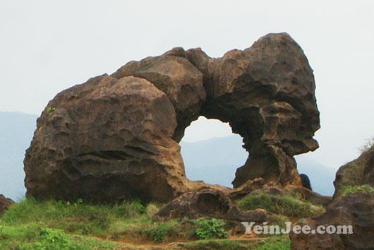 Peculiar stones at Yehliu Geopark, Taiwan