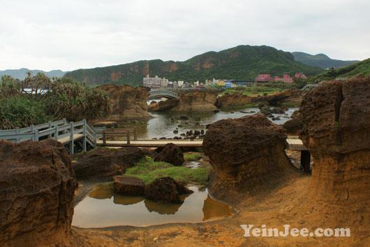 Peculiar rocks at Yehliu Geopark, Taiwan
