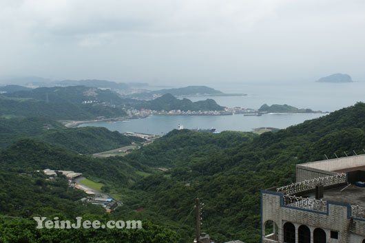 Oceanic and mountainous view from Jiufen, Taiwan