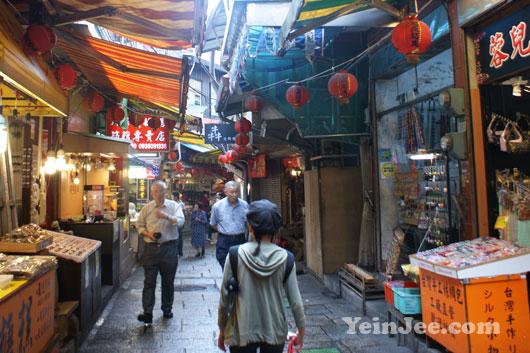 Old streets in Jiufen, Taiwan
