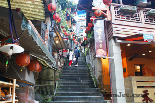 Filming location for A City of Sadness in Jiufen, Taiwan