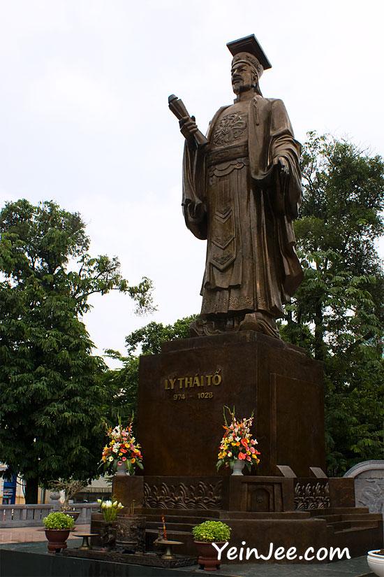 Statue of Emperor Ly Thai To in Hanoi, Vietnam