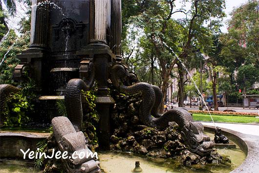 Fountain at Ngo Quyen Street in Hanoi, Vietnam