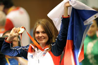 Katerina Emmons of Czech Republic won first gold medal in 2008 Beijing Olympics