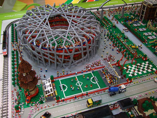 Lego Sports City recreation of Beijing Olympics venues