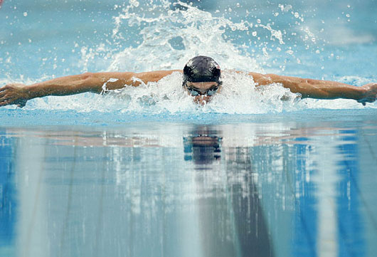 US swimmer Michael Phelps in Beijing Olympics 2008
