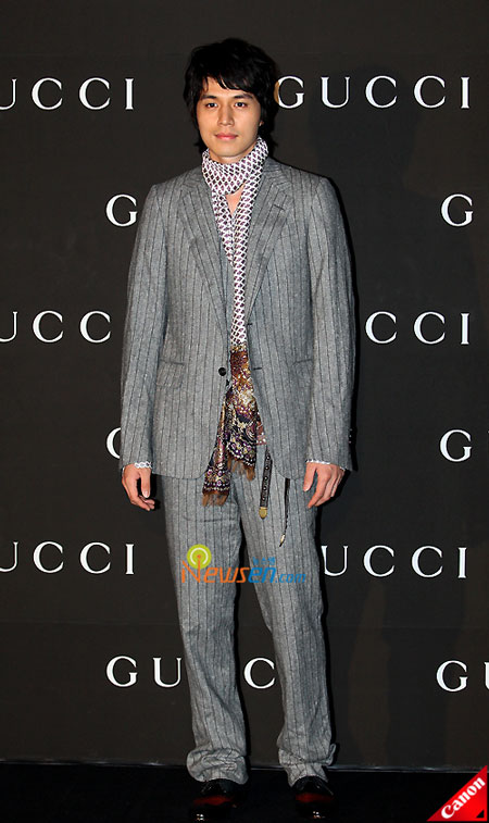 Korean actor Lee Dong-wook at Gucci 0809 FW Collection in Seoul