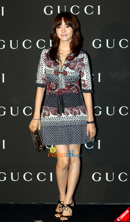 Korean artist Sung Yuri at Gucci 0809 FW Collection in Seoul